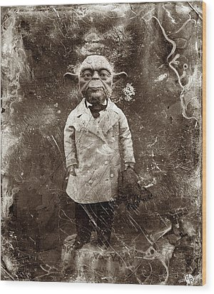 Yoda Star Wars Antique Photo Wood Print