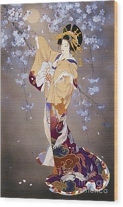 Yoi Wood Print by Haruyo Morita