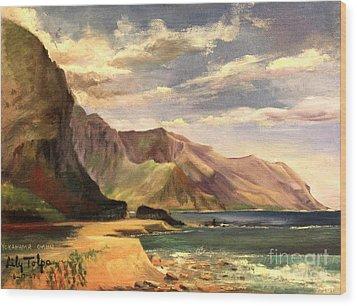 Yokahama Bay Oahu Hawaii - 1960's Wood Print
