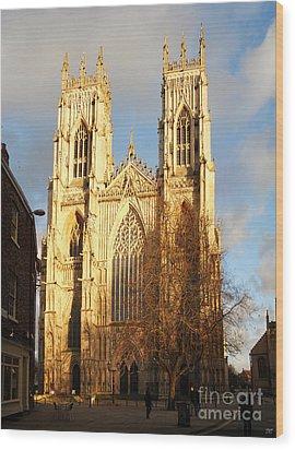 York Minster Wood Print by Neil Finnemore