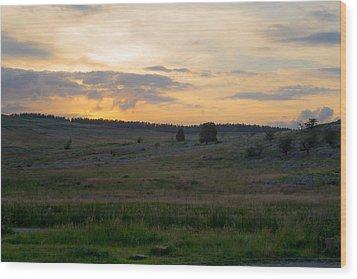 Yorkshire - Sheepwash Osmotherley Wood Print by Scott Lyons