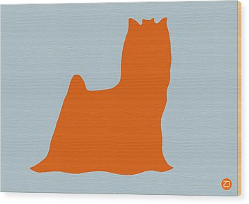 Yorkshire Terrier Orange Wood Print by Naxart Studio