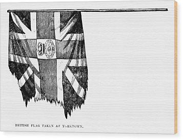 Yorktown: British Flag Wood Print by Granger