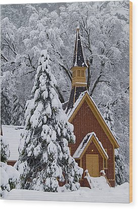Yosemite Chapel Wood Print