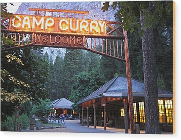 Wood Print featuring the photograph Yosemite Curry Village by Shane Kelly