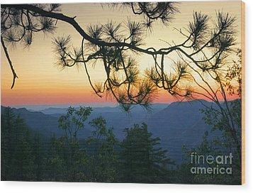 Yosemite Dusk Wood Print by Ellen Cotton
