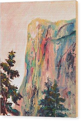 Yosemite El Capitan Wood Print by Carolyn Jarvis