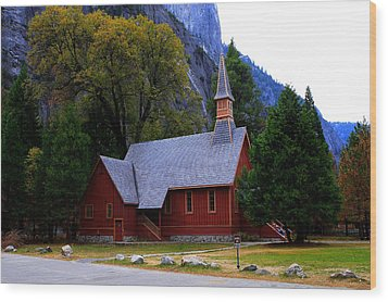 Yosemite Fall  Chapel  Wood Print by Duncan Selby