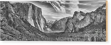 Yosemite Panoramic Wood Print by Chuck Kuhn