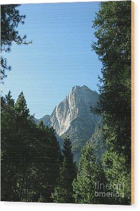 Yosemite Park Wood Print