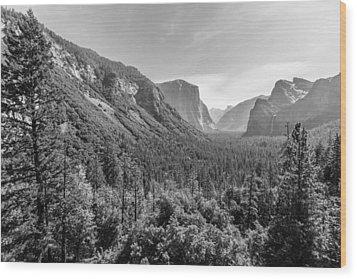 Yosemite Tunnel View Wood Print