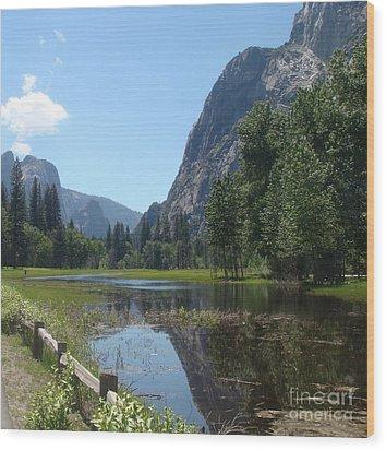 Yosemite Valley Wood Print by Catherine DeHart