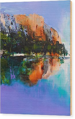 Yosemite Valley Wood Print