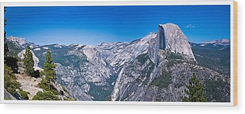 Yosemite Valley From Glacier Point Wood Print