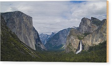 Yosemite Valley Panoramic Wood Print