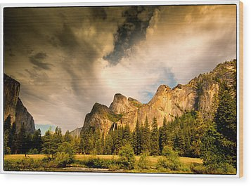 Wood Print featuring the photograph Yosemite Valley Spring 2013 by Janis Knight