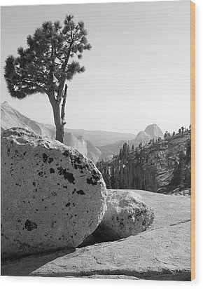 Wood Print featuring the photograph Yosemite's Olmsted Point by Kevin Desrosiers