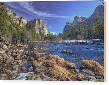 Yosemite's Valley View Wood Print
