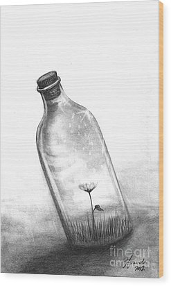 Wood Print featuring the drawing You Are Not Your Mistake by J Ferwerda