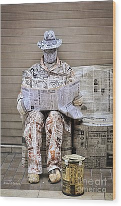 You Are What You Read Wood Print by Mary Machare