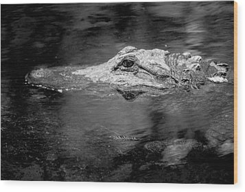 Wood Print featuring the photograph You Better Not Go At Night by Wade Brooks