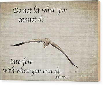 You Can Do It  Wood Print