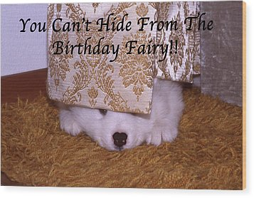 You Can't Hide Birthday Card Wood Print