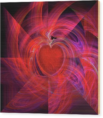 You Make My Heart Beat Faster Wood Print by Michael Durst