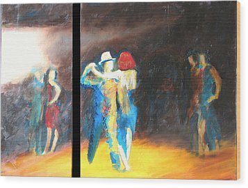 Wood Print featuring the painting You Shine  Diptych by Keith Thue