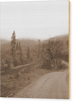 Wood Print featuring the photograph You Take The High Road And I Will Take The . . .  by Marie Neder