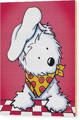 You Wanna Pizza Me? 3 Wood Print by Kim Niles