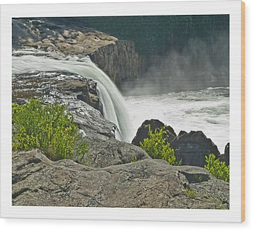 Wood Print featuring the photograph Yough Falls Wat 217 by G L Sarti