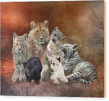 Young And Wild Wood Print by Carol Cavalaris