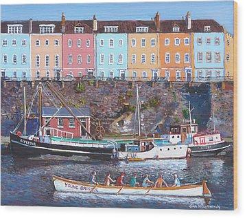 Young Bristol Wood Print by Tomas OMaoldomhnaigh