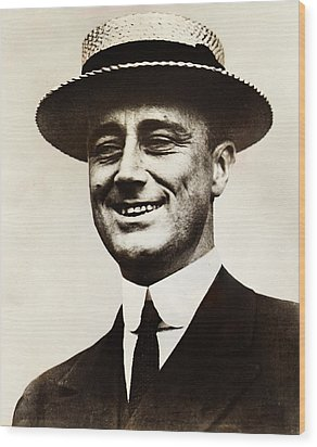 Young Franklin  Roosevelt Wood Print by Bill Cannon