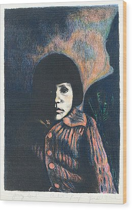 Young Girl Wood Print by Kendall Kessler