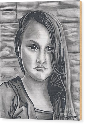 Young Girl- Shan Peck Contest Wood Print