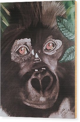 Young Gorilla Wood Print