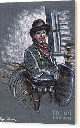 Wood Print featuring the painting Young Gunfighter by Joyce Gebauer