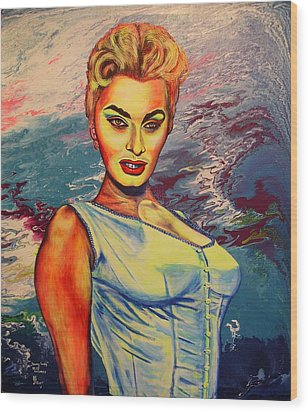 Wood Print featuring the painting Young Lady.sophia. by Viktor Lazarev