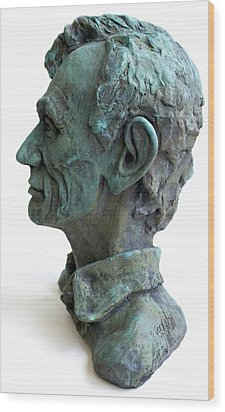 Young Lincoln -sculpture Wood Print by Derrick Higgins