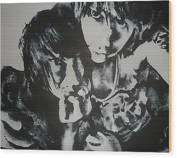 Wood Print featuring the painting Young Lovers by Cherise Foster
