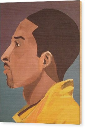 Young Mamba Wood Print by Brandon King