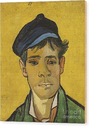 Young Man With A Hat Wood Print by Vincent Van Gogh