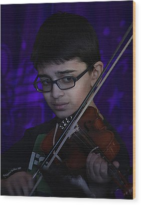 Young Musician Impression # 5 Wood Print