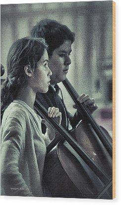 Young Musicians Impression # 38 Wood Print by Aleksander Rotner