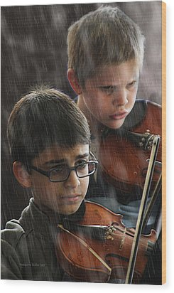 Young Musicians Impression #45 Wood Print