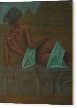 Young Nefertiti Wood Print by D Rogale