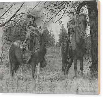 Young Rough Riders Wood Print