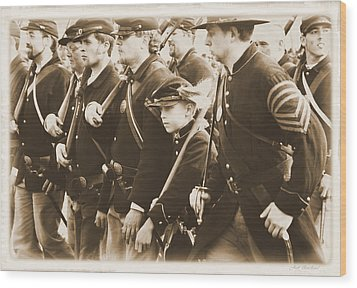 Wood Print featuring the photograph Young Soldier by Judi Quelland